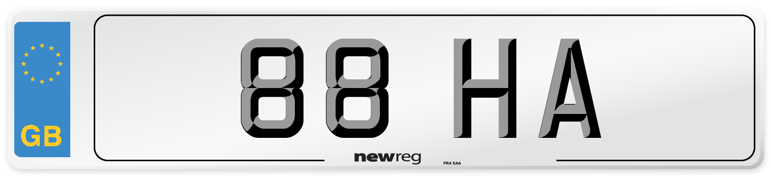 88 HA Number Plate from New Reg