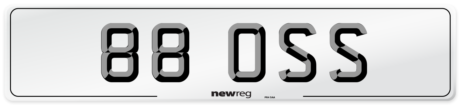 88 OSS Number Plate from New Reg