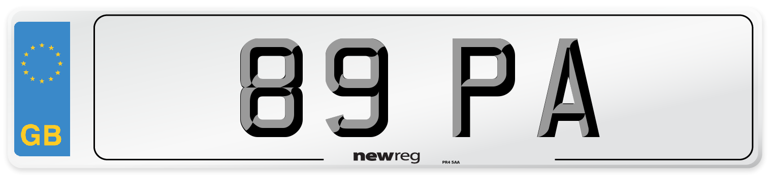89 PA Number Plate from New Reg