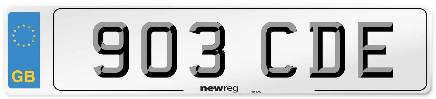 903 CDE Number Plate from New Reg