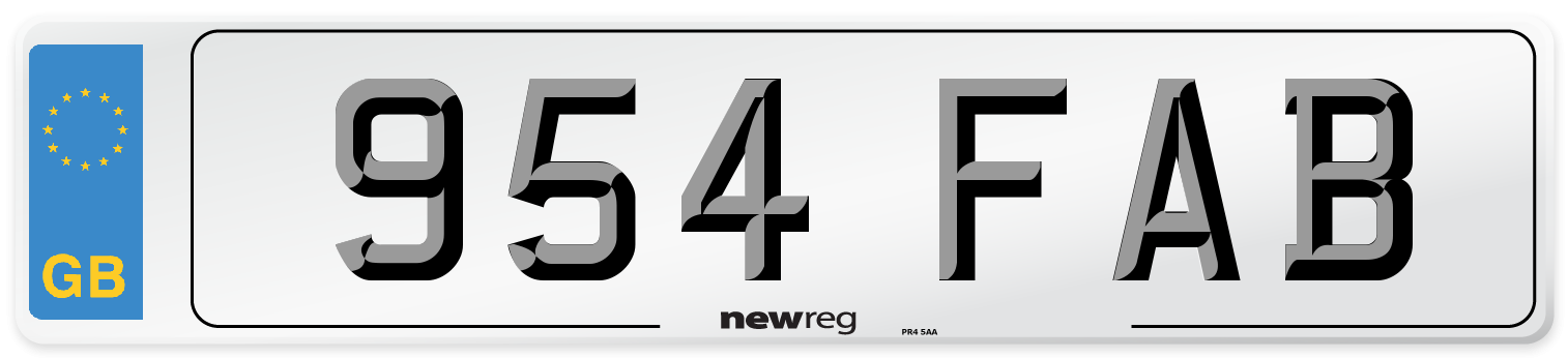 954 FAB Number Plate from New Reg