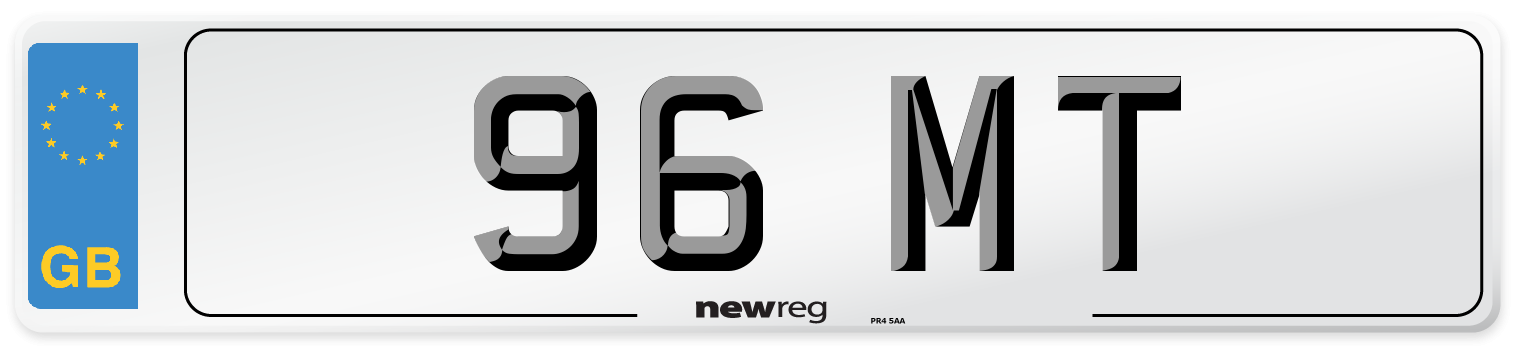 96 MT Number Plate from New Reg
