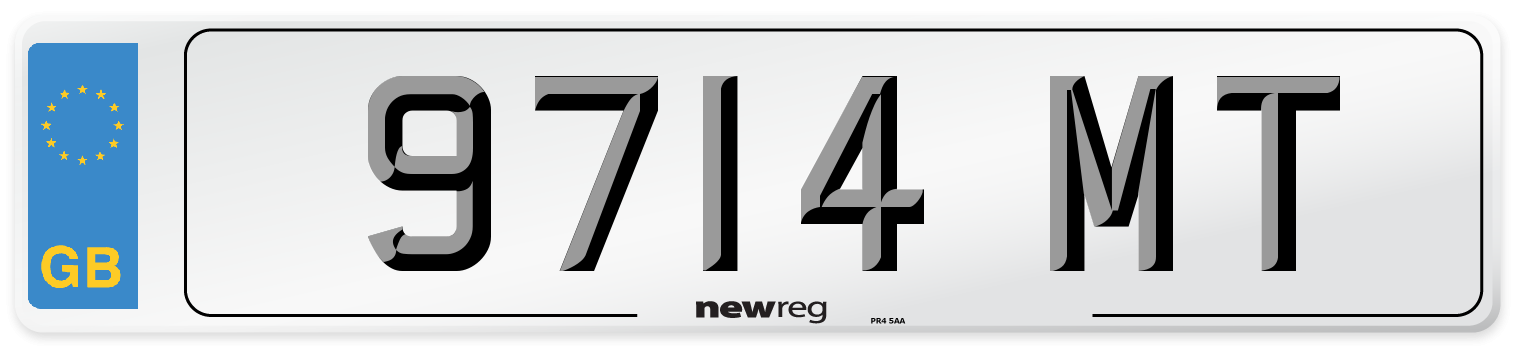 9714 MT Number Plate from New Reg