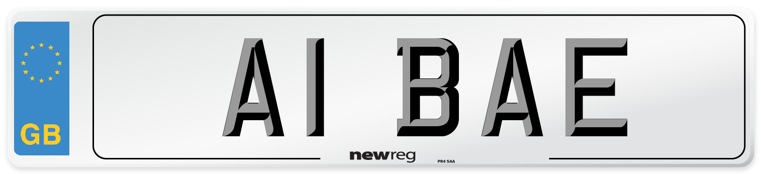 A1 BAE Number Plate from New Reg