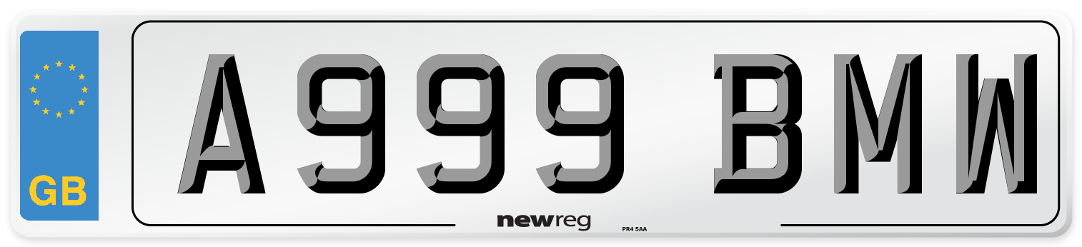 A999 BMW Number Plate from New Reg