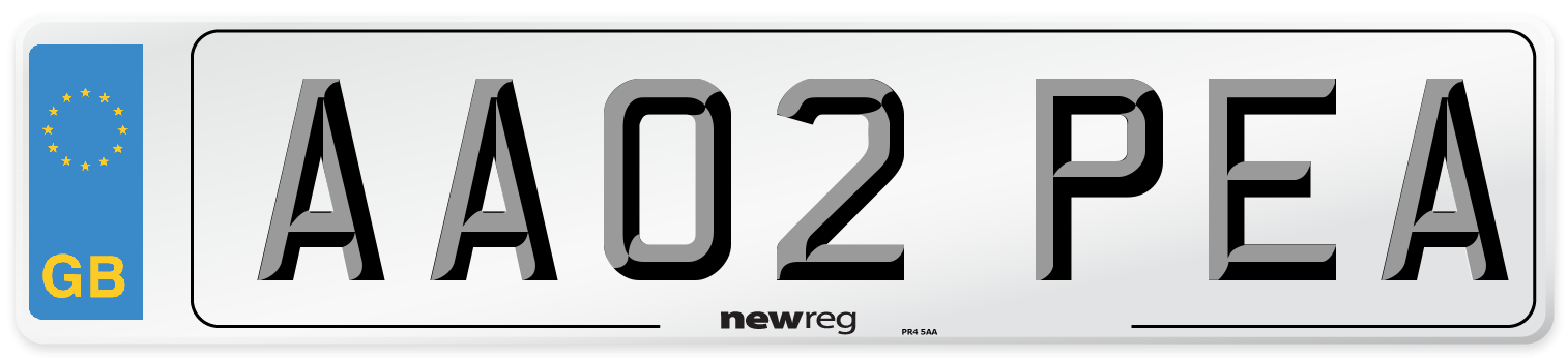 AA02 PEA Number Plate from New Reg