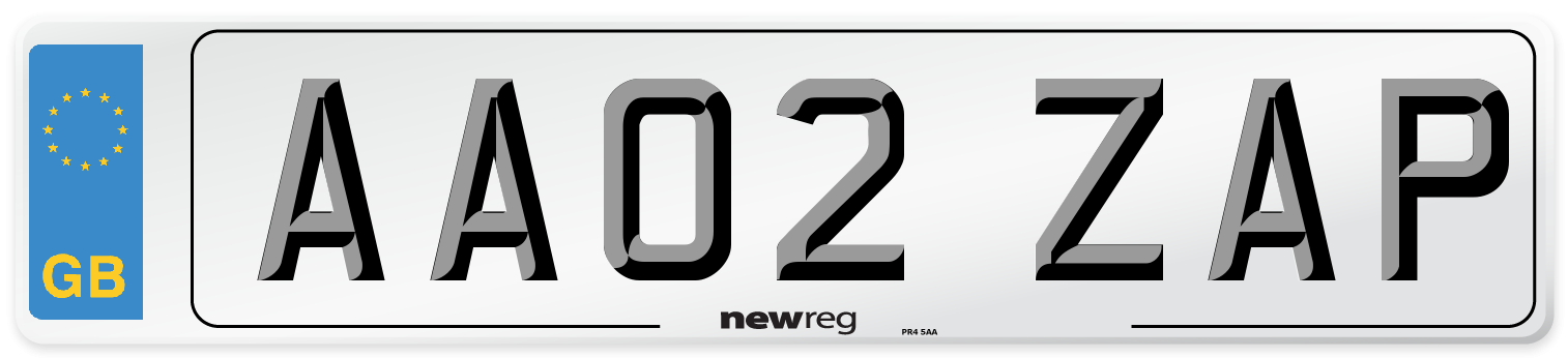 AA02 ZAP Number Plate from New Reg