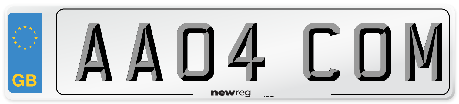 AA04 COM Number Plate from New Reg