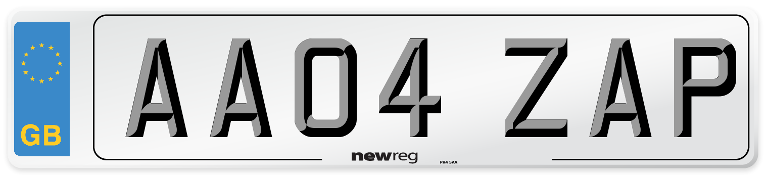 AA04 ZAP Number Plate from New Reg