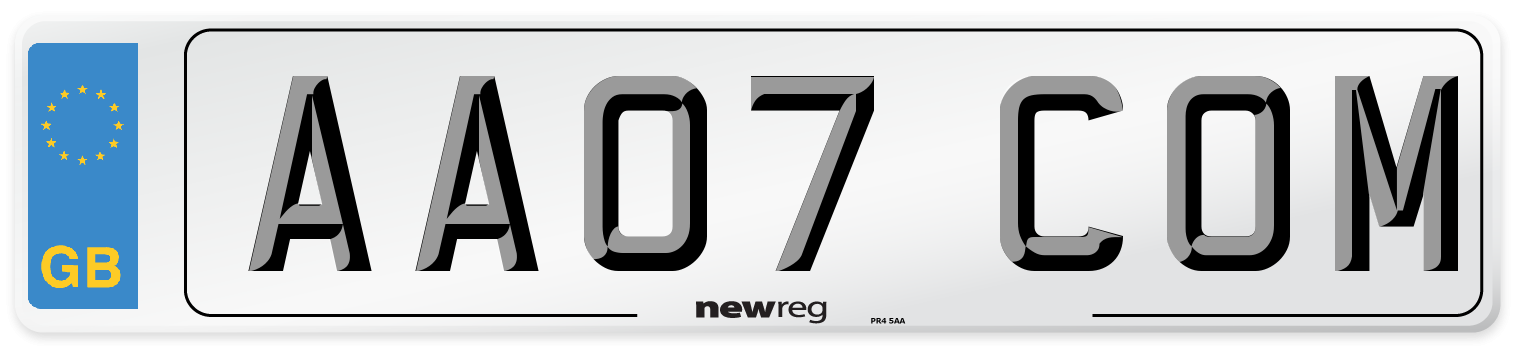 AA07 COM Number Plate from New Reg
