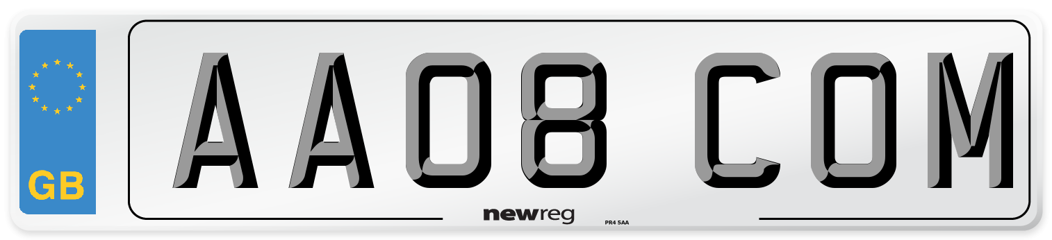 AA08 COM Number Plate from New Reg