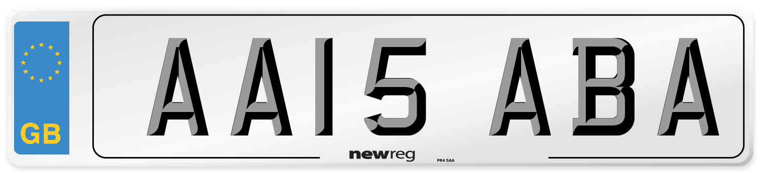 AA15 ABA Number Plate from New Reg