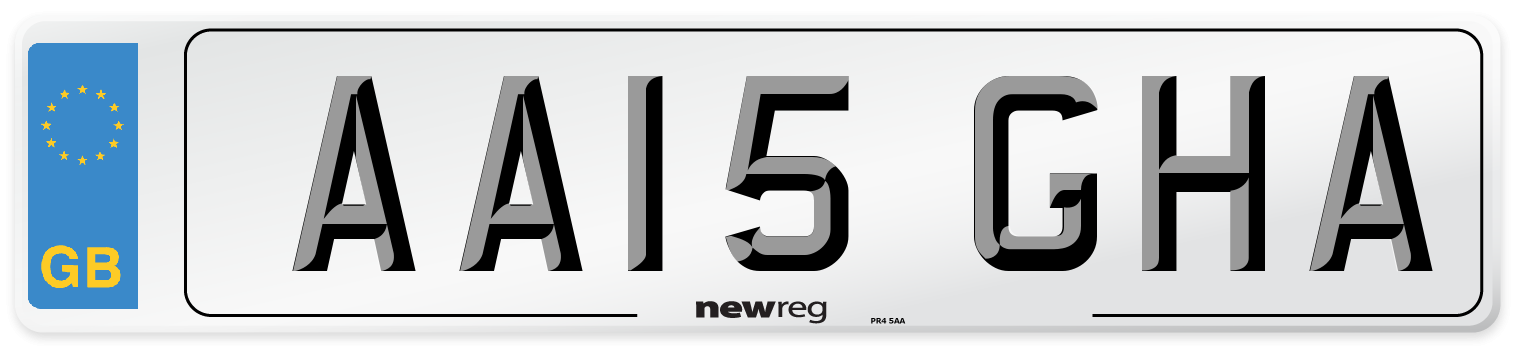 AA15 GHA Number Plate from New Reg