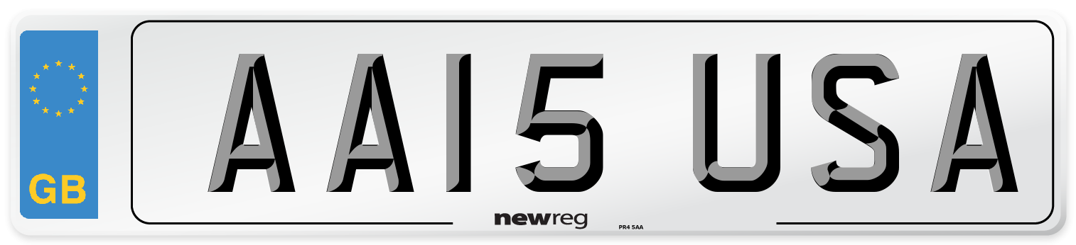 AA15 USA Number Plate from New Reg