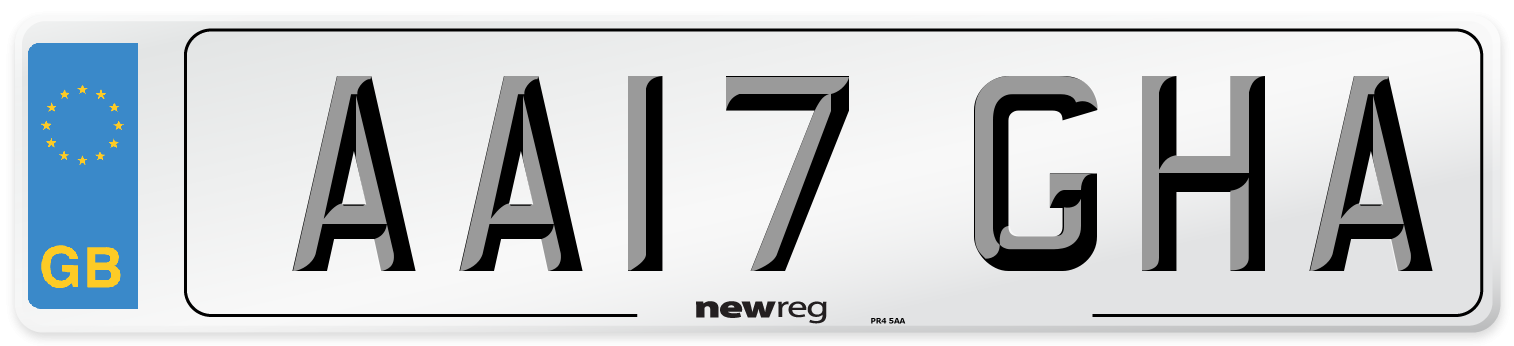AA17 GHA Number Plate from New Reg