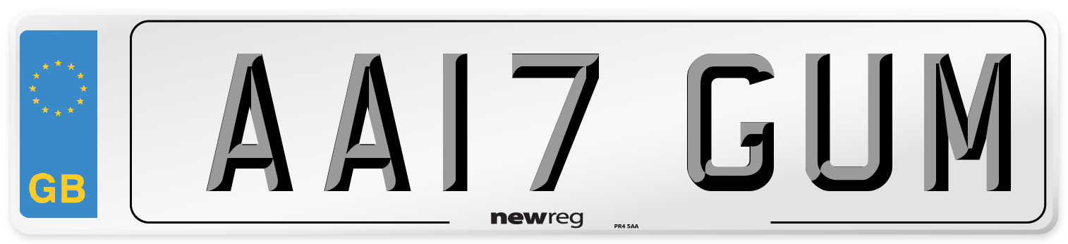 AA17 GUM Number Plate from New Reg