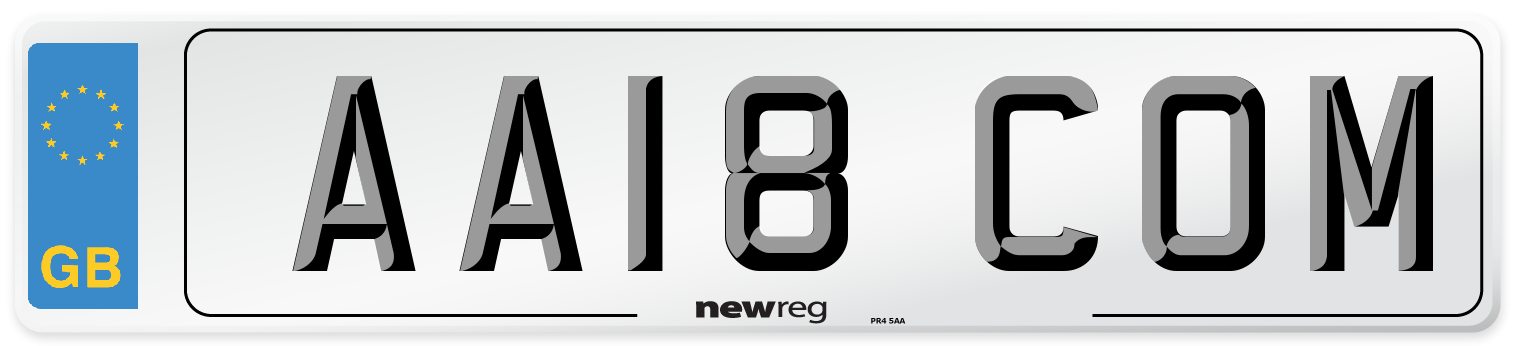 AA18 COM Number Plate from New Reg