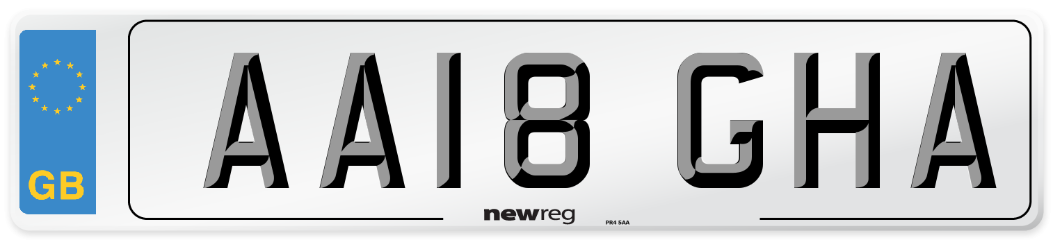 AA18 GHA Number Plate from New Reg