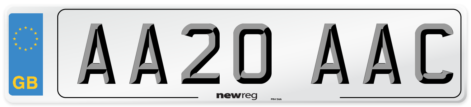 AA20 AAC Number Plate from New Reg