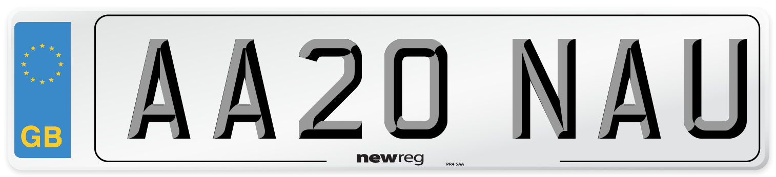 AA20 NAU Number Plate from New Reg