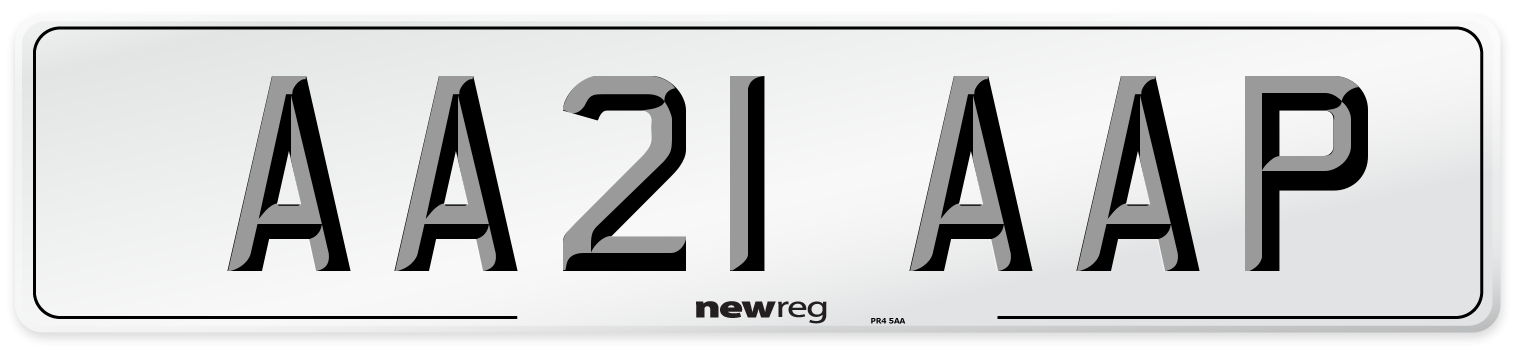 AA21 AAP Number Plate from New Reg