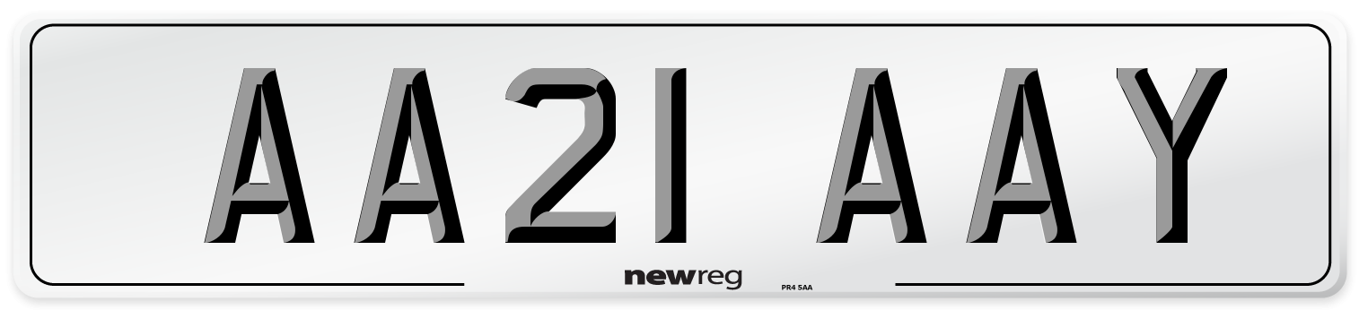 AA21 AAY Number Plate from New Reg