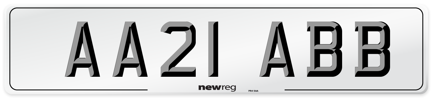 AA21 ABB Number Plate from New Reg