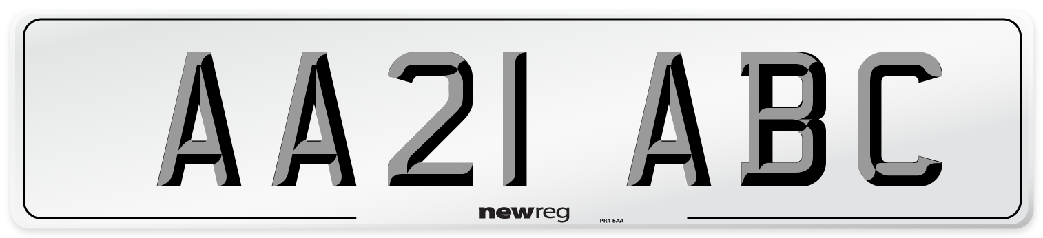 AA21 ABC Number Plate from New Reg