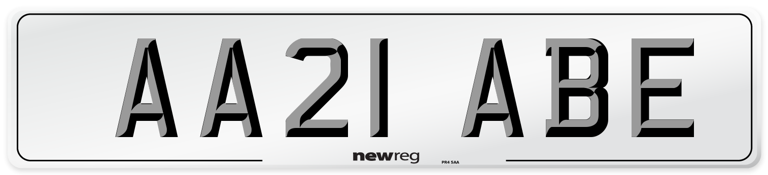 AA21 ABE Number Plate from New Reg