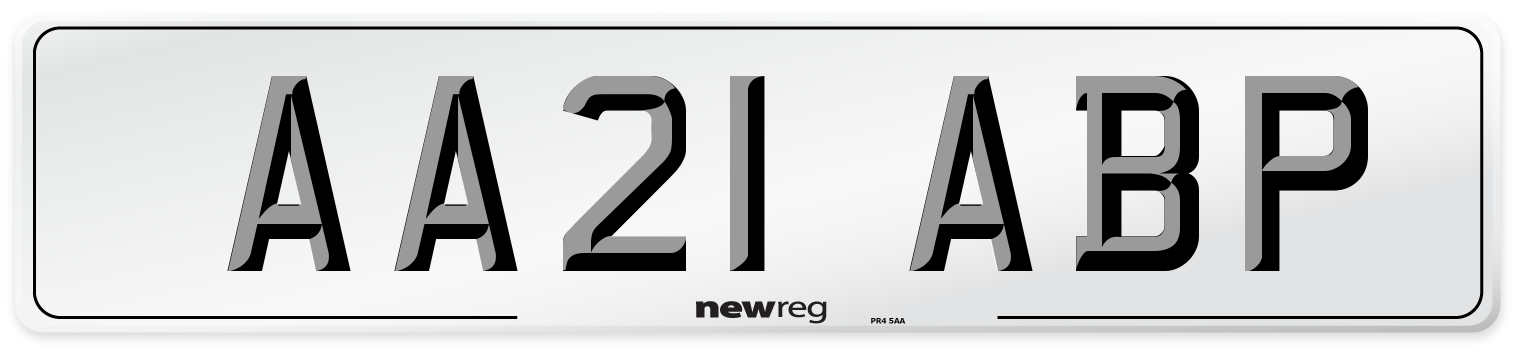 AA21 ABP Number Plate from New Reg