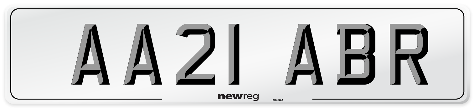 AA21 ABR Number Plate from New Reg