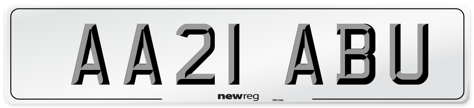AA21 ABU Number Plate from New Reg
