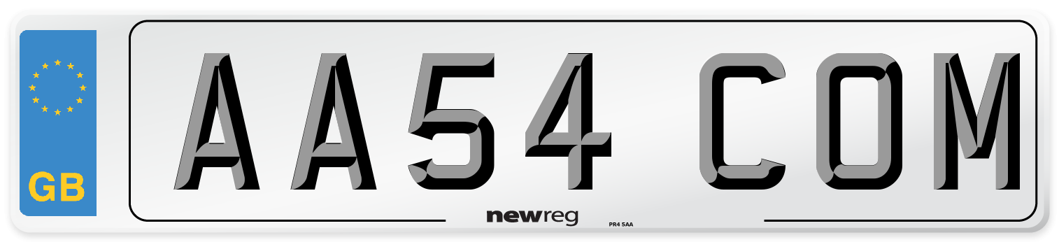 AA54 COM Number Plate from New Reg