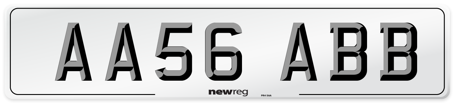 AA56 ABB Number Plate from New Reg