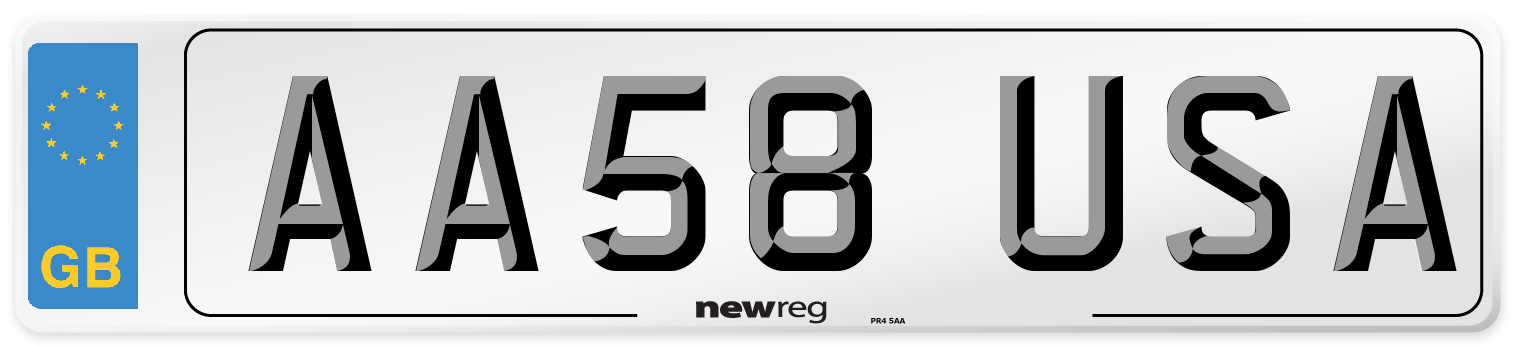 AA58 USA Number Plate from New Reg