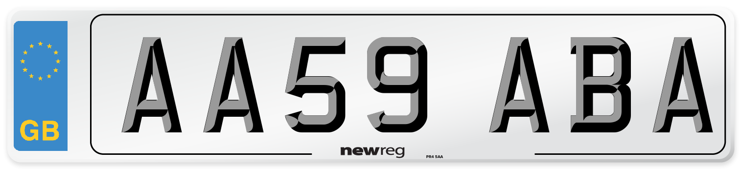 AA59 ABA Number Plate from New Reg