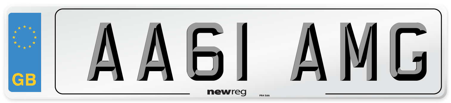 AA61 AMG Number Plate from New Reg