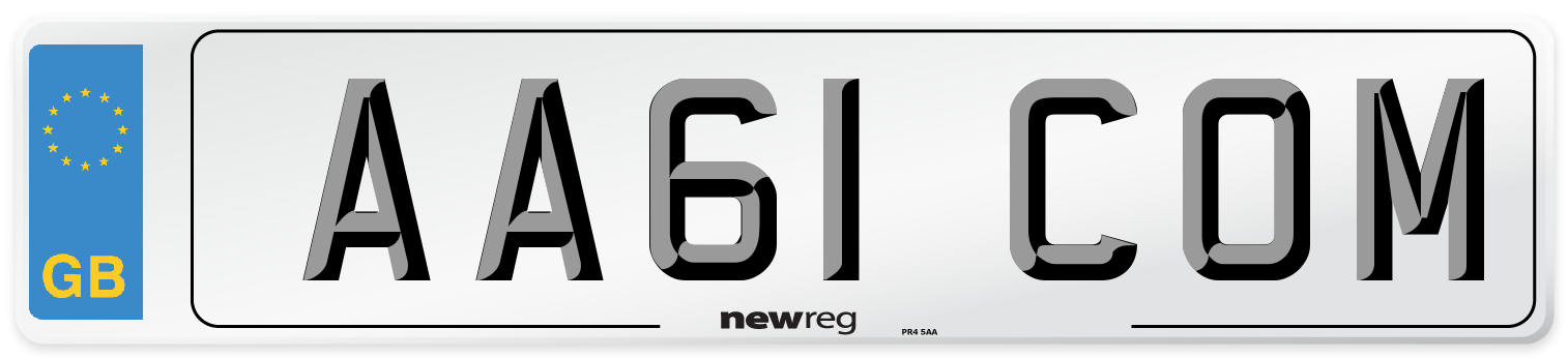 AA61 COM Number Plate from New Reg