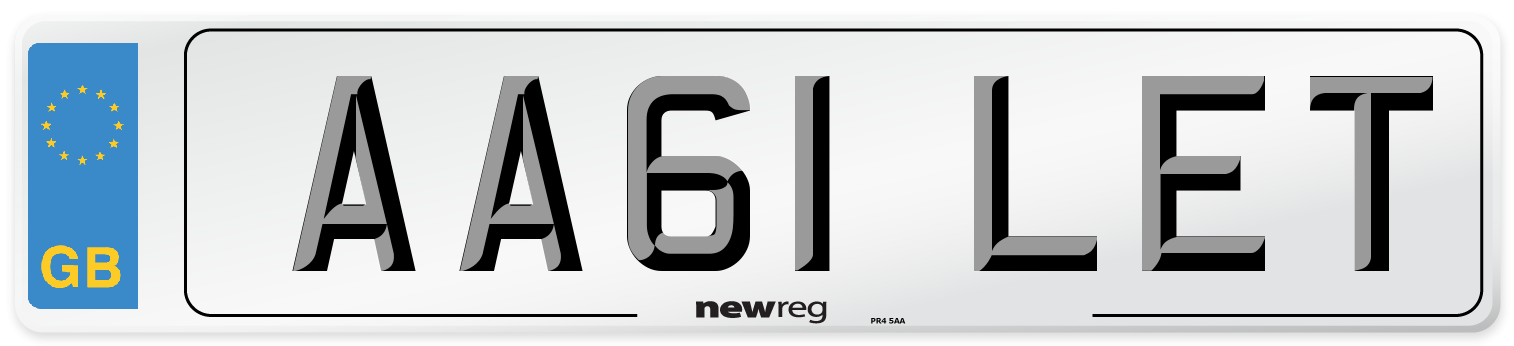 AA61 LET Number Plate from New Reg