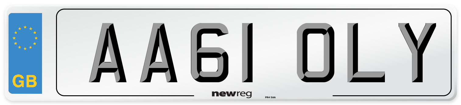 AA61 OLY Number Plate from New Reg