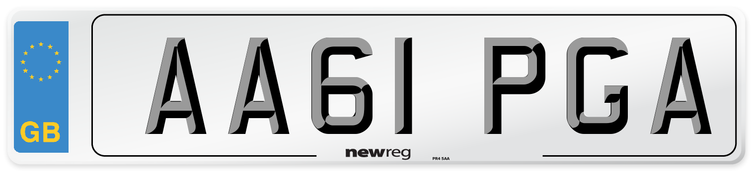 AA61 PGA Number Plate from New Reg