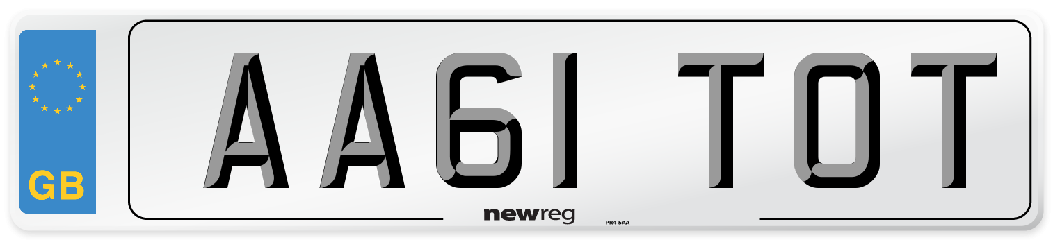 AA61 TOT Number Plate from New Reg
