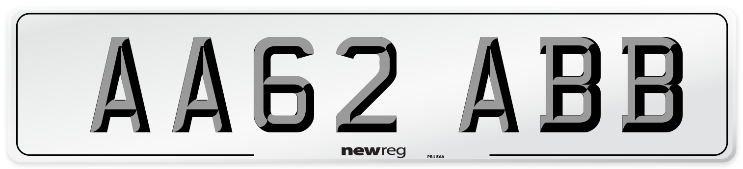 AA62 ABB Number Plate from New Reg
