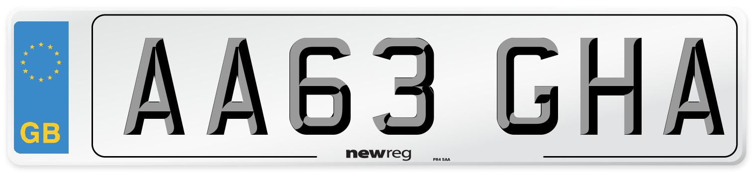 AA63 GHA Number Plate from New Reg