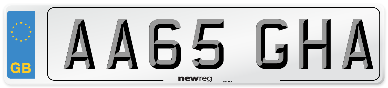 AA65 GHA Number Plate from New Reg