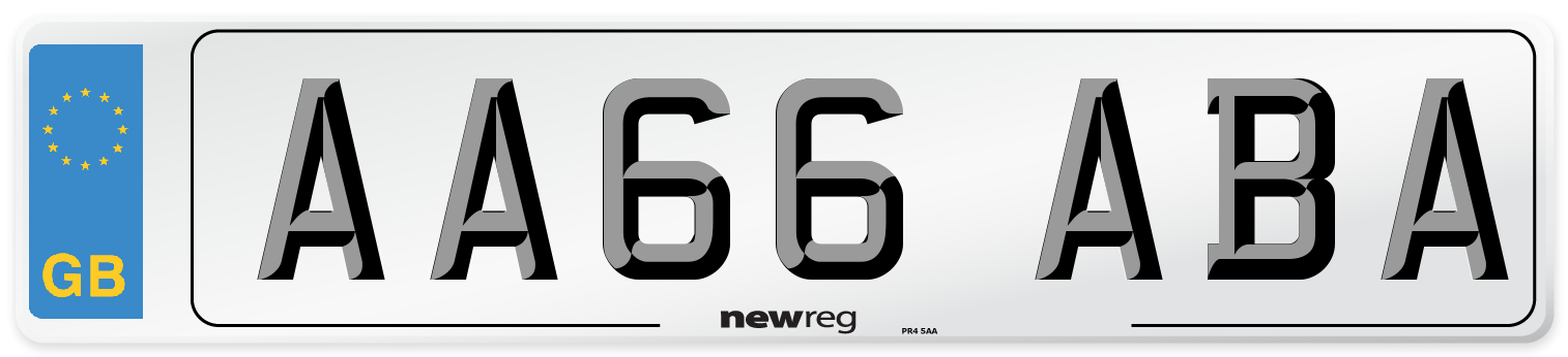 AA66 ABA Number Plate from New Reg