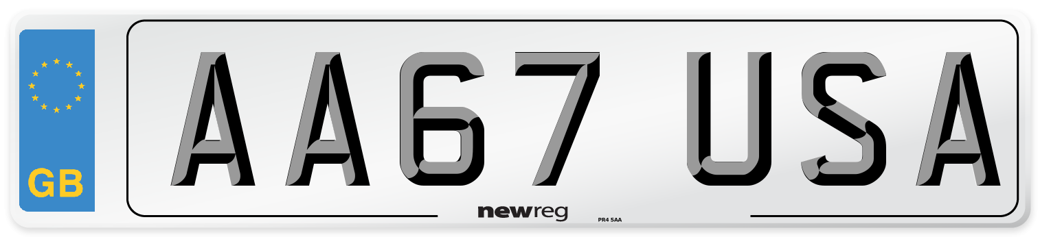 AA67 USA Number Plate from New Reg