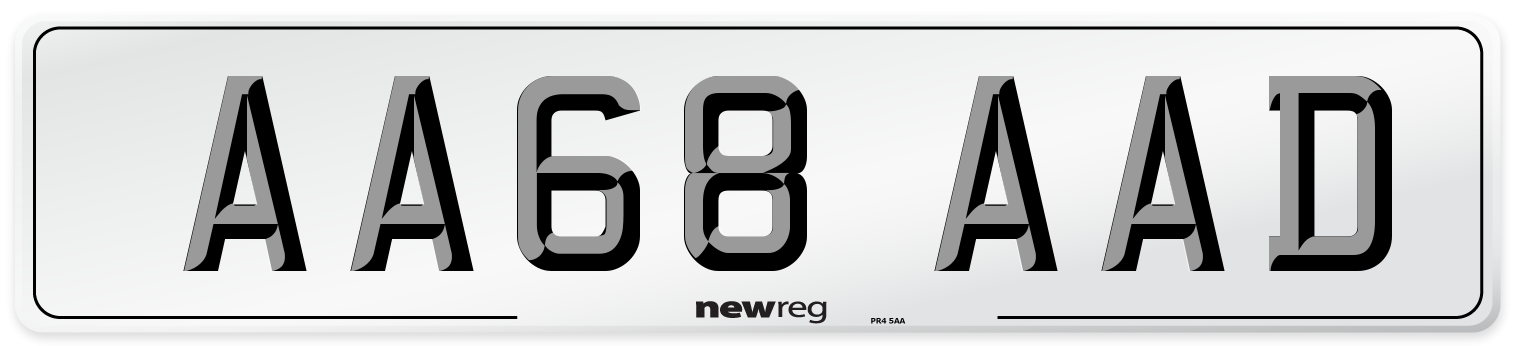 AA68 AAD Number Plate from New Reg