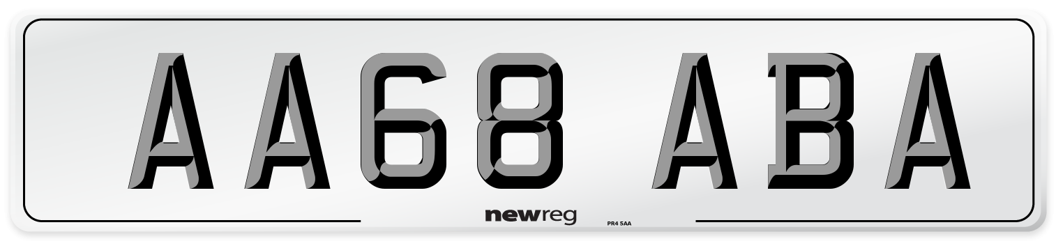 AA68 ABA Number Plate from New Reg
