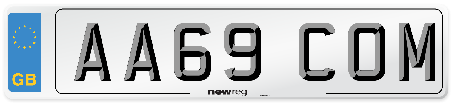 AA69 COM Number Plate from New Reg